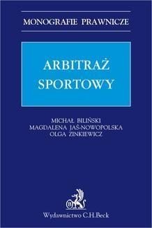 Chomikuj, ebook online Arbitraż sportowy. Michał Biliński