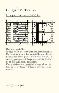 Chomikuj, ebook online Encyklopedia. Notatki. Gonçalo M. Tavares