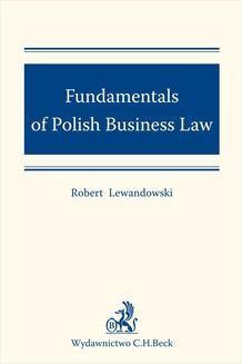 Chomikuj, ebook online Fundamentals of Polish Business Law. Robert Lewandowski