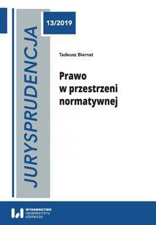 Ebook Jurysprudencja 13. Prawo w przestrzeni normatywnej pdf