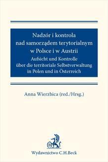 Chomikuj, ebook online Nadzór i kontrola nad samorządem terytorialnym w Polsce i Austrii. Anna Wierzbica