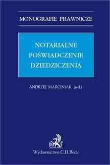 Chomikuj, ebook online Notarialne poświadczenie dziedziczenia. Andrzej Marciniak