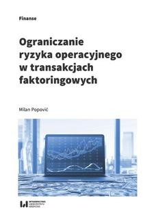 Ebook Ograniczanie ryzyka operacyjnego w transakcjach faktoringowych pdf