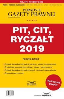 Chomikuj, ebook online PIT, CIT, RYCZAŁT 2019. Opracowanie zbiorowe