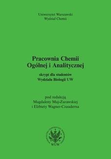 Ebook Pracownia Chemii Ogólnej i Analitycznej pdf
