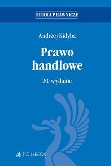 Ebook Prawo handlowe. Wydanie 20 pdf