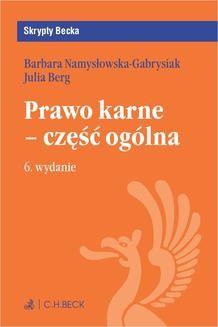 Ebook Prawo karne – część ogólna. Wydanie 6 pdf