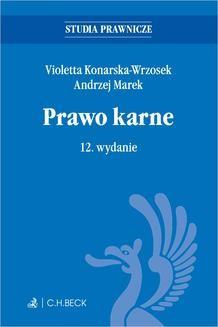 Chomikuj, ebook online Prawo karne. Wydanie 12. Violetta Konarska-Wrzosek