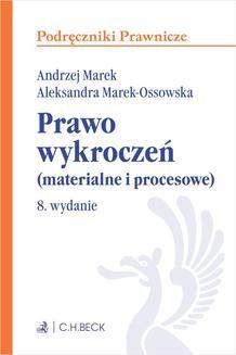 Chomikuj, ebook online Prawo wykroczeń (materialne i procesowe). Wydanie 8. Andrzej Marek