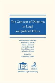 Ebook The Concept of Dilemma in Legal and Judicial Ethics pdf