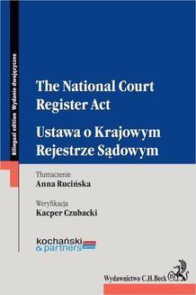 Chomikuj, ebook online The National Court Register Act. Ustawa o Krajowym Rejestrze Sądowym. Kochański and Partners