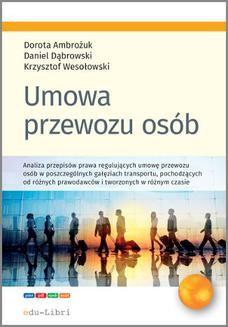 Ebook Umowa przewozu osób pdf