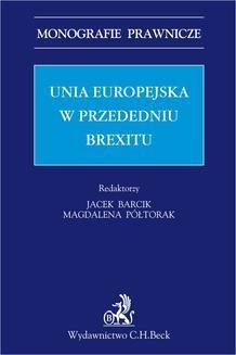 Chomikuj, ebook online Unia Europejska w przededniu Brexitu. Jacek Barcik