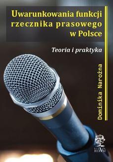 Chomikuj, ebook online Uwarunkowania funkcji rzecznika prasowego w Polsce. Dominika Narożna