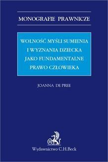 Ebook Wolność myśli sumienia i wyznania dziecka jako fundamentalne prawo człowieka pdf