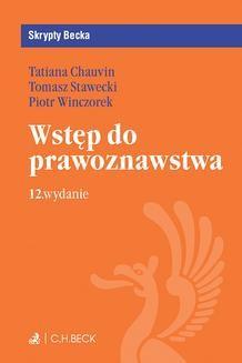 Chomikuj, ebook online Wstęp do prawoznawstwa. Wydanie 12. Tatiana Chauvin