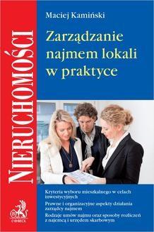 Chomikuj, ebook online Zarządzanie najmem lokali w praktyce. Maciej Kamiński
