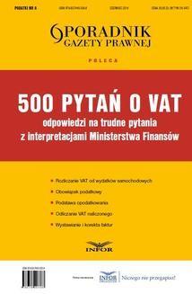 Chomikuj, ebook online 500 pytań o VAT. Praca zbiorowa