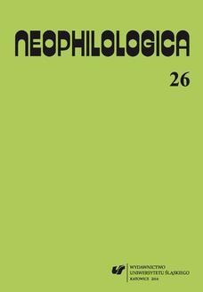 """Chomikuj, ebook online """"Neophilologica"""" 2014. Vol. 26: Le concept d'événement et autres études. red. Wiesław Banyś"""
