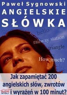 Chomikuj, ebook online Angielskie słówka. Paweł Sygnowski