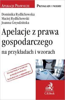 Ebook Apelacje z prawa gospodarczego na przykładach i wzorach pdf