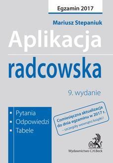 Ebook Aplikacja radcowska. Pytania odpowiedzi tabele pdf