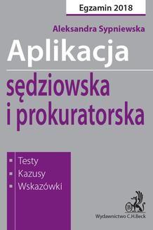 Chomikuj, ebook online Aplikacja sędziowska i prokuratorska. Aleksandra Sypniewska
