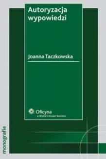Chomikuj, ebook online Autoryzacja wypowiedzi. Joanna Taczkowska