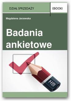 Chomikuj, ebook online Badania ankietowe. Magdalena Jarzewska