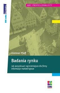 Chomikuj, ebook online Badania rynku. Dietmar Pfaff