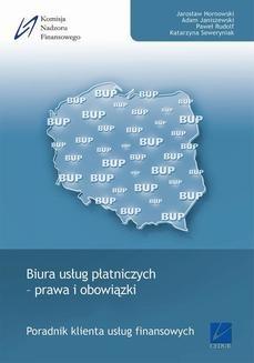 Chomikuj, ebook online Biura usług płatniczych – prawa i obowiązki. Jarosław Hornowski