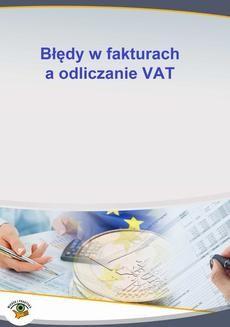 Chomikuj, ebook online Błędy w fakturach a odliczanie VAT. Mariusz Olech