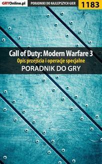 Chomikuj, ebook online Call of Duty: Modern Warfare 3 – opis przejścia i operacje specjalne – poradnik do gry. Michał 'Wolfen' Basta