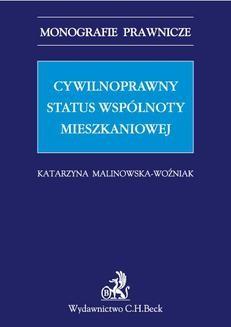 Ebook Cywilnoprawny status wspólnoty mieszkaniowej pdf