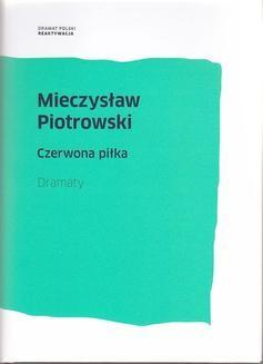 Chomikuj, ebook online Czerwona piłka. Mieczysław Piotrowski