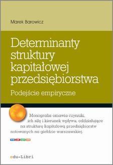 Ebook Determinanty struktury kapitałowej przedsiębiorstwa pdf