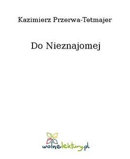 Ebook Do Nieznajomej pdf