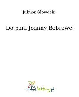 Ebook Do pani Joanny Bobrowej pdf