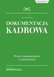 Ebook Dokumentacja kadrowa. Wzory dokumentów i wyjaśnienia pdf
