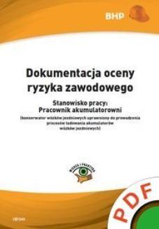 Chomikuj, ebook online Dokumentacja oceny ryzyka zawodowego. Stanowisko pracy: pracownik akumulatorowni. Artur Hennig