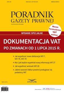 Ebook Dokumentacja VAT po zmianach od 1 lipca 2015 r. pdf