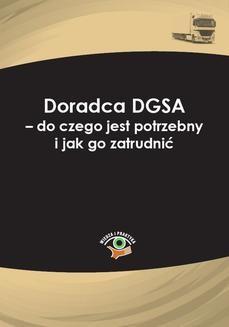 Chomikuj, pobierz ebook online Doradca DGSA – do czego jest potrzebny i jak go zatrudnić. Karolina Kołdys
