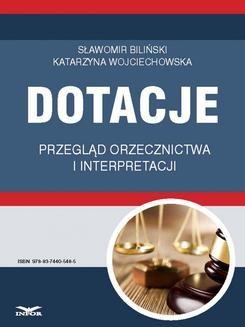 Ebook Dotacje przegląd orzecznictwa i interpretacji pdf