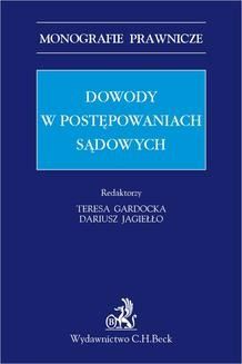 Chomikuj, ebook online Dowody w postępowaniach sądowych. Katarzyna Antolak-Szymanski