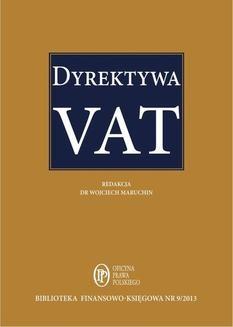 Chomikuj, ebook online Dyrektywa VAT. Praca zbiorowa