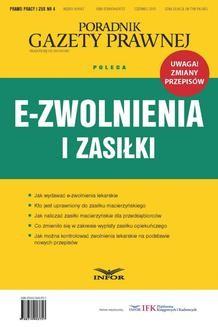 Ebook E-zwolnienia i zasiłki (PDF ) pdf