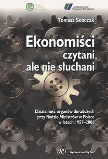 Ebook Ekonomiści czytani, ale nie słuchani pdf