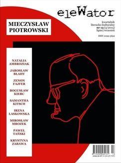 Ebook eleWator 13 (3/2015) – Mieczysław Piotrowski pdf