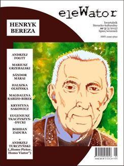 Chomikuj, ebook online eleWator 5 (3/2013) – Henryk Bereza. Opracowanie zbiorowe null