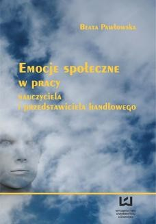 Ebook Emocje społeczne w pracy nauczyciela i przedstawiciela handlowego pdf